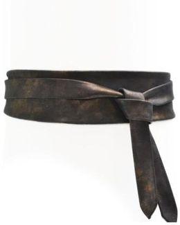 Handmade Leather Wrap Belt