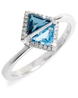 Iris Double Triangle Diamond & Semiprecious Stone Ring (nordstrom Exclusive)
