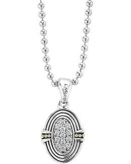 Beloved Diamond Oval Locket Necklace