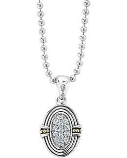 Beloved Diamond Oval Locket Necklace
