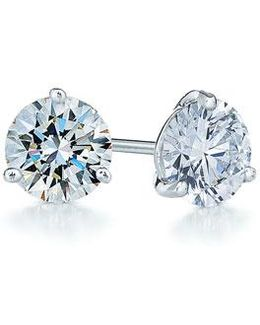 1.25ct Tw Diamond & Platinum Stud Earrings