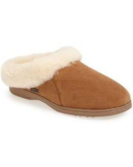 'ewe Collar' Genuine Sheepskin Mule Slipper