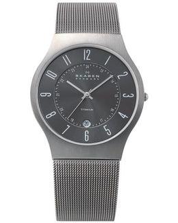 233lttm Titanium Mesh Bracelet Watch Grey