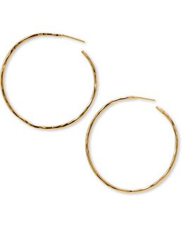 Hammered Large Hoop Earrings