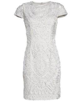 Short Sleeve Soutache Cocktail Dress