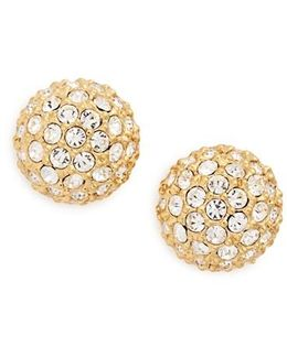 Small Pave Stud Earrings