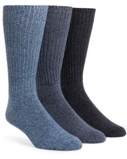 3-pack Casual Socks, Blue
