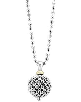 Sterling Silver Ball Long Pendant Necklace