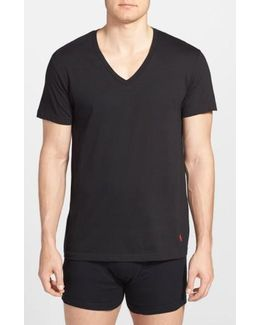 3-pack V-neck T-shirts, Black