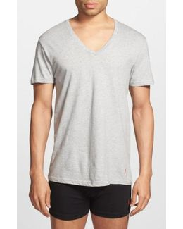 3-pack V-neck T-shirts, White