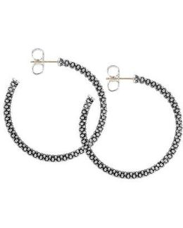 Medium Caviar Hoop Earrings