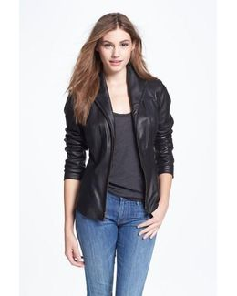 Lambskin Leather Scuba Jacket