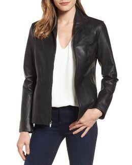 Lambskin Leather Scuba Jacket