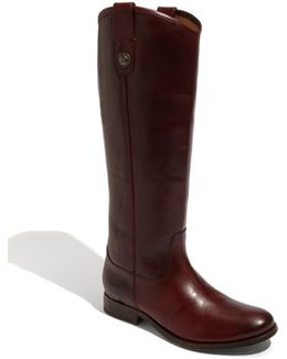 'melissa Button' Leather Riding Boot