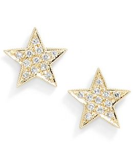 'julianne Himiko' Diamond Star Stud Earrings