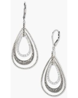 Orbital Triple Teardrop Hoop Earrings