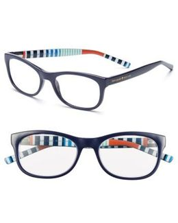 Letti 51mm Reading Glasses - Navy Stripe