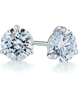 0.25ct Tw Diamond & Platinum Stud Earrings