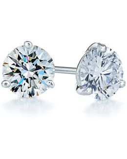 0.75ct Tw Diamond & Platinum Stud Earrings