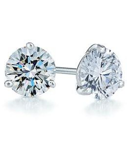 1ct Tw Diamond & Platinum Stud Earrings