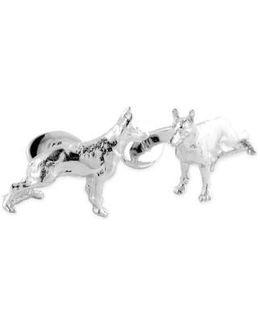 'german Shepherd' Sterling Silver Cuff Links