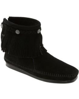 Fringed Moccasin Bootie