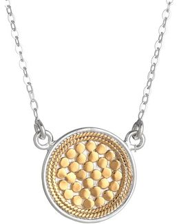 'gili' Reversible Disc Pendant Necklace
