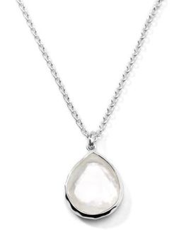 'wonderland' Mini Teardrop Pendant Necklace - Mother Of Pearl (online Only)