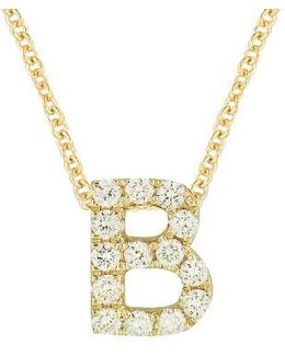 Pave Diamond Initial Pendant Necklace (nordstrom Exclusive)