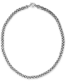 Sterling Silver Caviar 7mm Rope Necklace