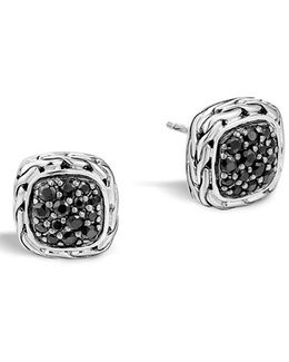 'classic Chain' Small Square Stud Earrings