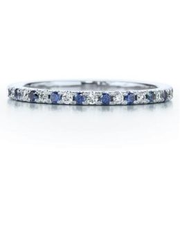 Diamond & Sapphire Stackable Ring