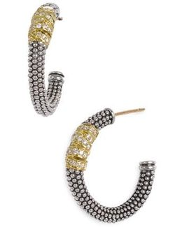 Embrace Caviar™ Diamond Hoop Earrings