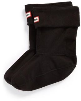 Short Fleece Welly Boot Socks