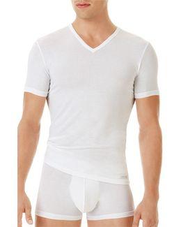 'u5563' V-neck Micromodal T-shirt
