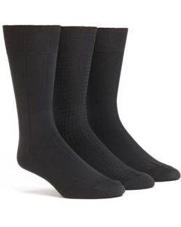 3-pack Microfiber Socks, Black
