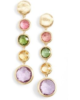 'jaipur' Semiprecious Stone Linear Earrings