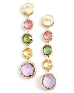 'jaipur' Semiprecious Stone Linear Earrings