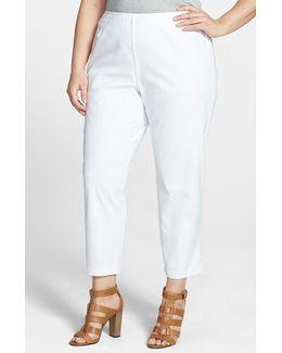 Stretch Organic Cotton Ankle Pants