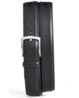 Manistee Brogue Leather Belt