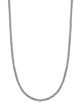 Sterling Silver Caviar 3mm Rope Necklace