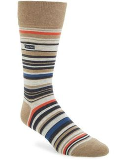 Multistripe Emblem Socks