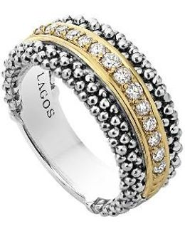Diamonds & Caviar Ring