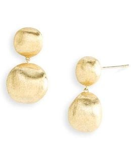 'africa Gold' Double Drop Earrings