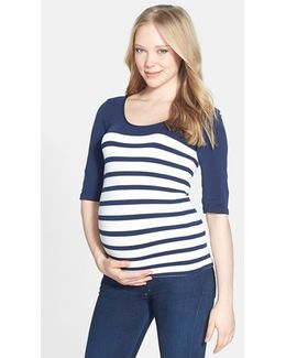 'st. Barts' Ballet Sleeve Maternity Top