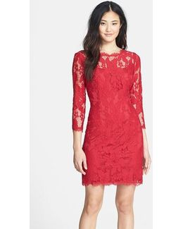 Long Sleeve Lace Cocktail Dress