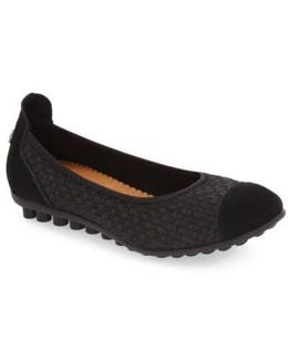Bella Me Leather Woven Flats