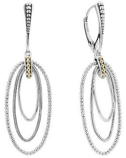 Caviar 'superfine' Two-tone Drop Earrings