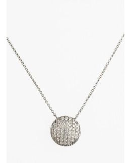 'lauren Joy' Diamond Disc Pendant Necklace