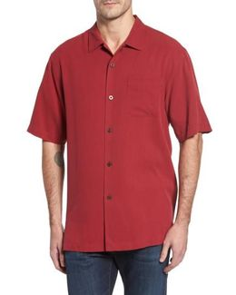 'catalina Twill' Original Fit Silk Camp Shirt